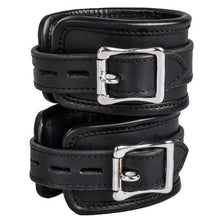 KOUDOU Obey Saddle Leather Heavy Duty Padded Wrist Cuffs