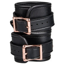 KOUDOU Beautifully Bound Black Faux Leather Ankle Cuffs