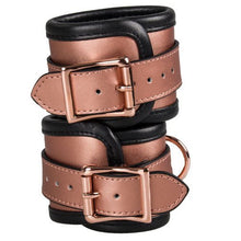 KOUDOU Beautifully Bound Rose Gold Real Leather Ankle Cuffs