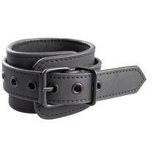 KOUDOU Matte Black Chained Ankle and Wrist Cuffs