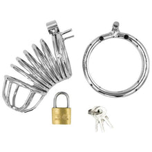 KOUDOU Stainless Steel Spiral Chastity Cage