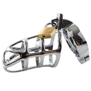 KOUDOU Stainless Steel Gladiator Chastity Cage