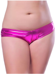 Plus size metallic shorts
