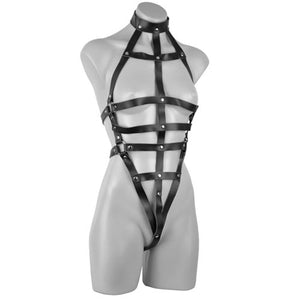 KOUDOU Deluxe Female Leather Body Harness