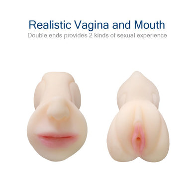 2-in-1 Vagina and Mouth Male Masturbation Cup