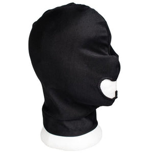 KOUDOU Black Bondage Hood with Mouth Hole