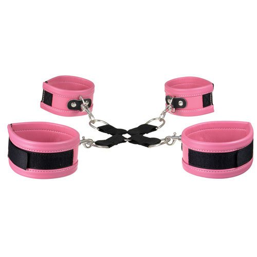 KOUDOU Super Soft Faux Leather Pink Hogtie Restraints