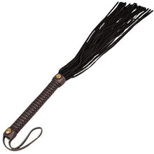 KOUDOU Obey Brown and Black Suede Leather Flogger - 26 Inch