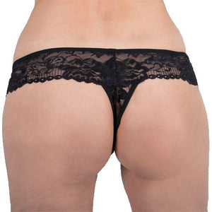 KOUDOU Black Lace 20 Function Remote Control Vibrating Thong