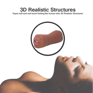3D Realistic  Male Masturbator 2 in 1