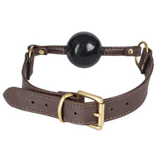 KOUDOU Obey Brown Soft Leather Ball Gag