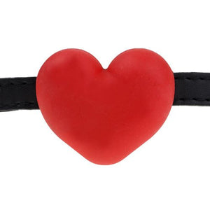 KOUDOU Red Silicone Heart Shaped Gag