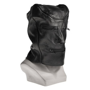 KOUDOU Lip and Eye zip Leather Bondage Gimp Mask