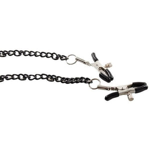 KOUDOU Black Chain Nipple and Clit Clamps