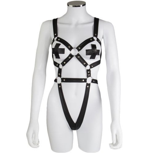 KOUDOU Body Harness with X-Shaped Nipple Pasties