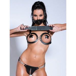 KOUDOU Chained Open Bra and Panty Set