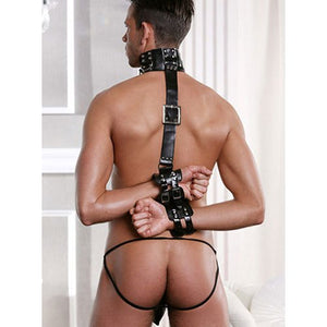 KOUDOU Bound and Buckled Bondage Collar Set