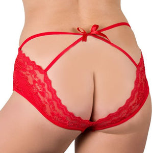 KOUDOU Plus Size Red Open Back 20 Function Remote Vibrating Knicker