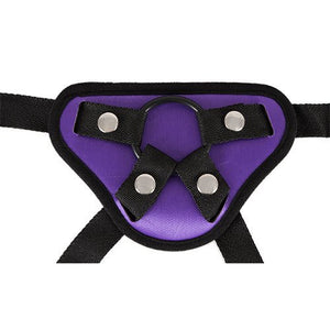 KOUDOU Purple Strap On Harness with Interchangeable Rings