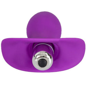 KOUDOU Purple Silicone Anchor Vibrating Butt Plug – 4 Inch