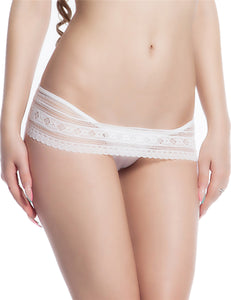 White Lace Trim Scalloped Sexy Panty