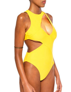 Solid Color High Quality Sexy Summer Women's One Piece Swimsuit