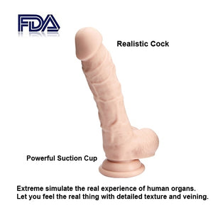 Liquid Silicone Dildo - 8.1 Inch Silicone Dildo with Strong Suction Cup
