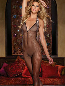 Mesh Backless Bodystocking