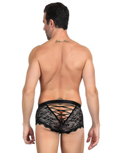 Sexy Black Lace Strappy Panty For Men