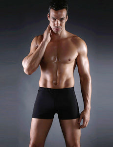 Men's Black Swimming Trunks Jammers Endurance Quick Dry Swimming Trunks