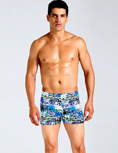 Men's Colorful Swimming Trunks Jammers Endurance Quick Dry Swimming Trunks