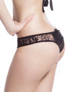 Open Crotch Black Lace Panty