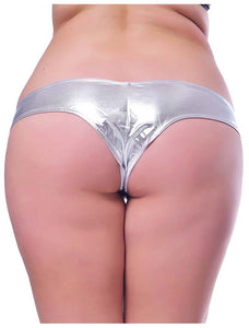 On Sale Plus size metallic shorts