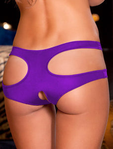 Sexy Cut Out Purple Open Crotch Panty