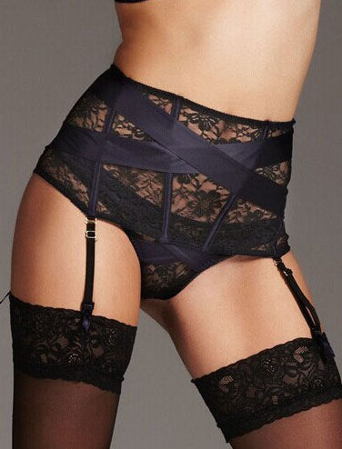 Floral Lace jarretelles Set