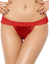 Red Sexy Mesh Big Bow Ruffled Thong