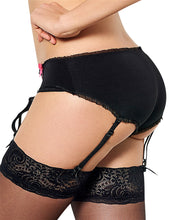 Crotchless Boyshort with Garters