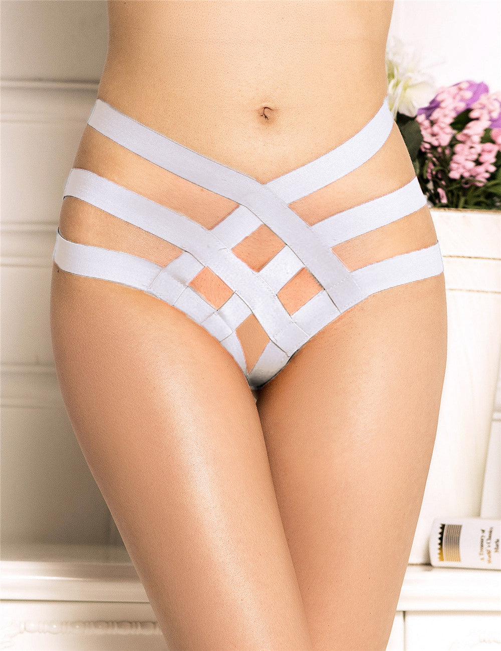 Sexy Cage Bandage Brief Thong Plus Size Panty