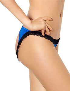 Black Lace Blue Plus Size Panty