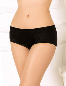 Black Plus Size Flash Silky Soft Sexy Panty