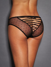 Plus Size Sexy Black Lace Strappy Panty