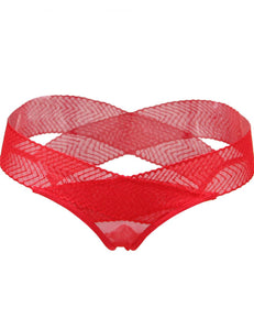 Plus Size Red Hollowed Out Ladies' Panty
