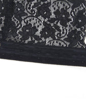 Plus Size Black Sexy Lace Garter Panty