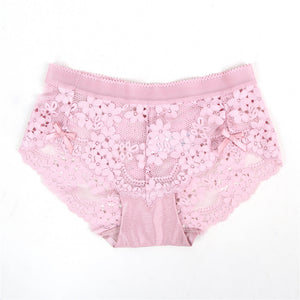 High Quality Pink Sexy Floral Lace Panty