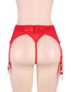 Plus Size Red Sexy Lace Garter Panty