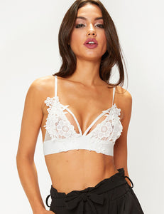 White Lace Bralette Top