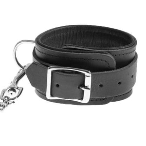 KOUDOU Leather Bindings Chained Wrist Cuffs