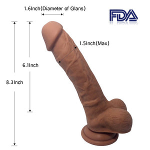 8.3 Inch Suction Cup Big Dildo