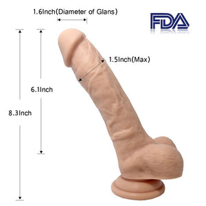8.3 Inches Liquid Brown Silicone Dildo