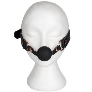 KOUDOU Bound Black Faux Leather Silicone Ball Gag SM Play Game